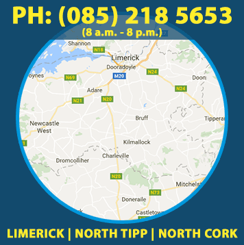 We offer our Wall and Render Cleaning service in Limerick, North Tipperary, North Cork including Limerick City, Adare, Doon, Tipperary Town, Patrickswell, Charleville, Annacotty, Nenagh, Mallow and Shannon.